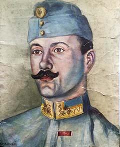 Schwantzer  K. fogolytárs festménye Sasi Lajosról 1917-ben az asztraháni táborban