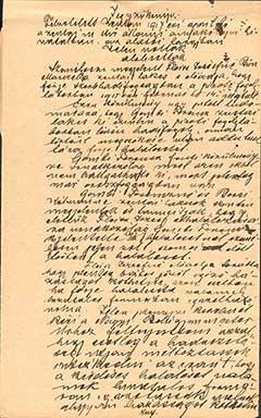 1917-ben felvett jegyzőkönyv Fleisz József halálesetével kapcsolatosan