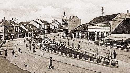 A szerbiai Kragujevac (ejtsd: Kragujevác) városa a XX. század elején