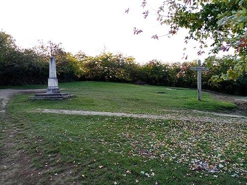 A temető feltételezhető helye 2020 októberében