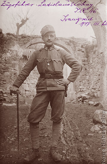 Kókay László már szakaszvezetőként 1917 tavaszán