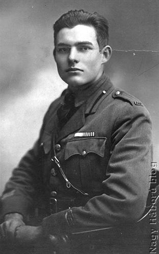 Ernest Hemingway 1918-ban Milánóban
