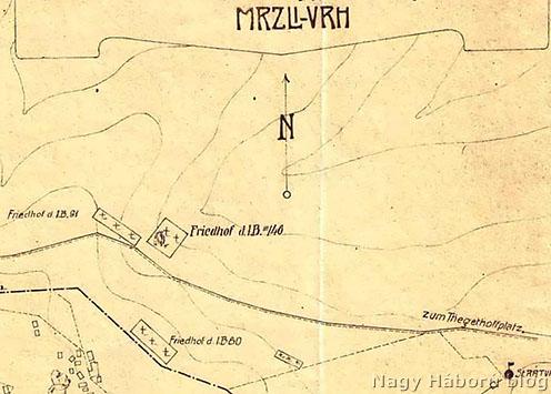 Temetők a Mrzli Vrh északi oldalán