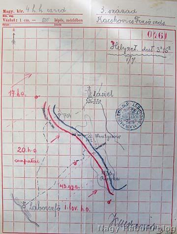 A harctéri helyzet 1915. május 7-én délután 3 óra 15 perckor