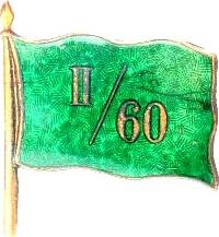 A császári és királyi egri 60. gyalogezred II. zászlóaljának a sapkajelvénye