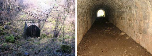 Az alagút bejárata és belseje napjainkban