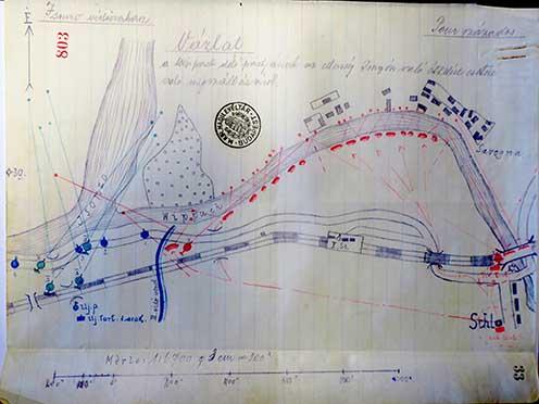 Pour százados terve, a Wippach-part megszállására