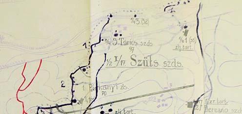 A felváltó 17/I. zászlóalj helyzete 1916. augusztus 5-én reggel
