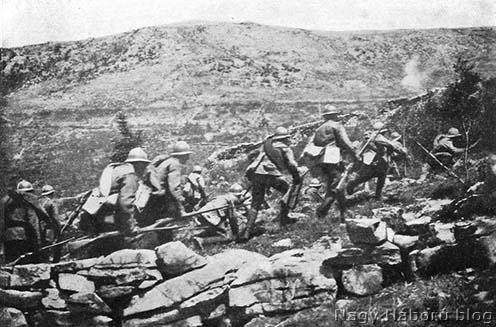 Rohamozó olasz gyalogság