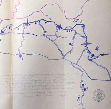 A Biene 3-4 védőszakasz a 6. isonzói csata előtt