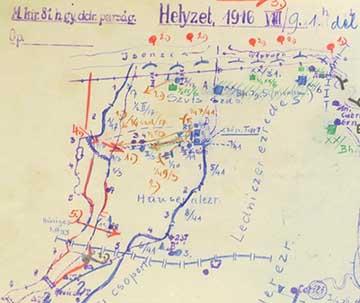 Vázlat az olasz betörésről 1916. augusztus 9.