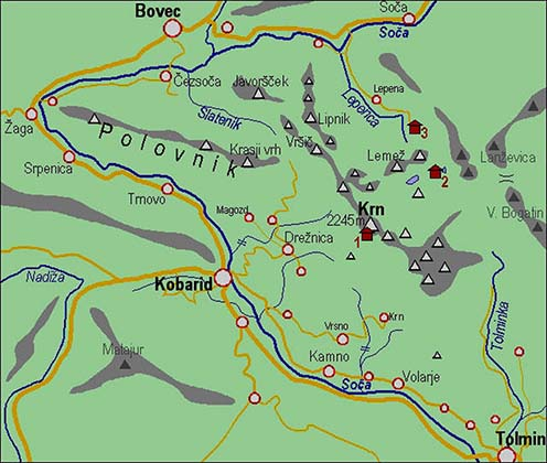 Caporetto környéke