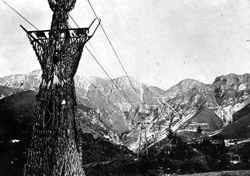 Egy katonai kötélpálya a Grappán, 1917 őszén
