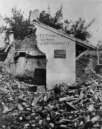 Patrióta falfelirat Bagarè faluban, az egyik ház falán