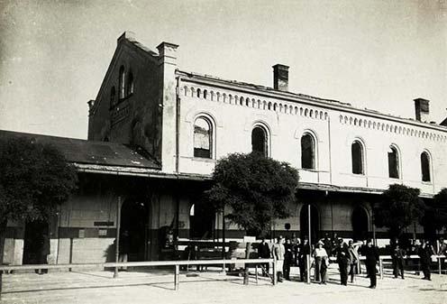 A chodorowi vasútállomás az első világháborúban idején
