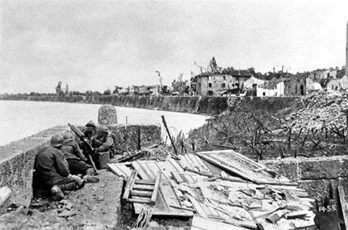 Légiósok a piavei csatában 1918 júniusában Nervesánál