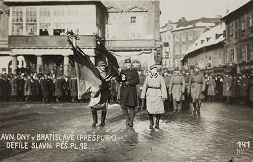 A Csehszlovák Légió felvonulása Pozsonyban, 1919. február 5.