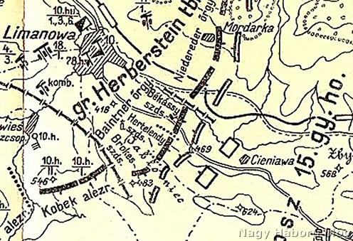 Az 1914. december 10., 24 órai helyzet