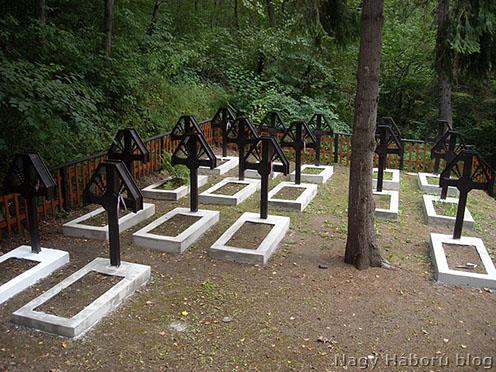 Tymbach, 365-ös temető: Szántay Jenő százados, Takács Gábor százados, Kovácsffy Kálmán főhadnagy sírjai