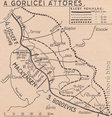 A gorlicei áttörés, 1915. május 2-8.