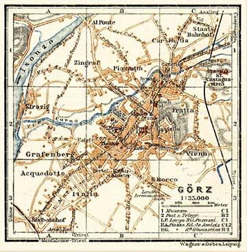 Görz 1911-es várostérképe