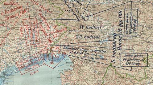 Kölcsönös erőviszonyok az Isonzó mentén 1915 júniusában