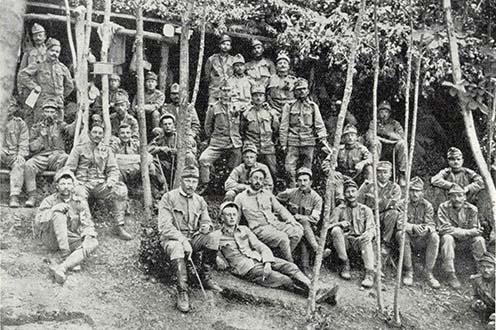 A cs. és kir. pécsi 52. gyalogezred 7. százada a Podgorán 1915 júliusában