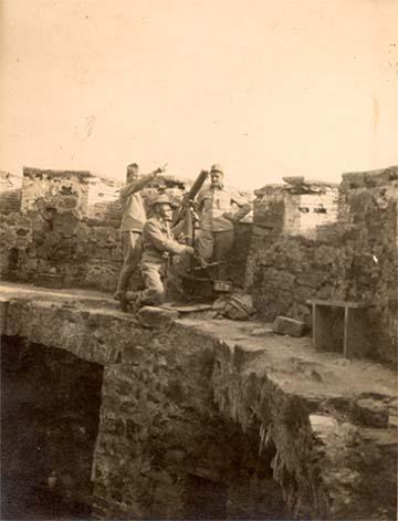Védők a görzi várban