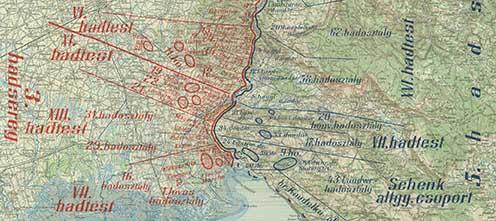 Az alakulatok helyzete 1916 augusztusában a sorsdöntő 6. Isonzó-csata előtt