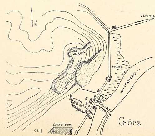 A cs. és kir. 69. gyalogezred 10. századának helyzete a visszavonulás előtt