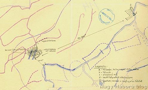 Helyzet az 1916. május 22-ei aknarobbantás után
