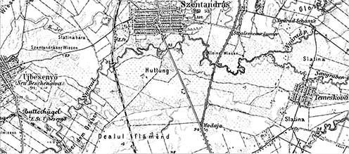 A terület korabeli térképe