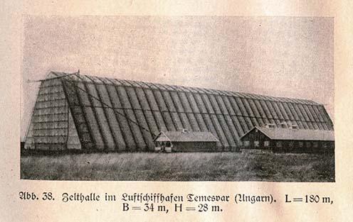 A hangár egy korabeli könyvből