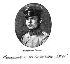 Hauptmann Felix Jacobi, az LZ81 parancsnoka