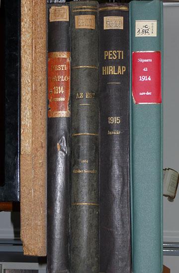 A négy lap Országos Széchényi Könyvtárban őrzött kötött példányai