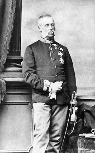 Habsburg-Tescheni Albert Frigyes Rudolf főherceg (1817–1895), a kaposvári 44. közös gyalogezred tulajdonosa(forrás: Wikipédia)