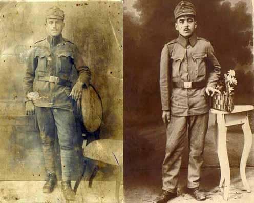 Horváth György és Török József (1897–1969) katonaképe