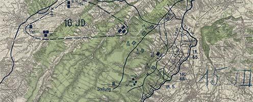 Az 1917 júliusi stanislaui csata helyszíne