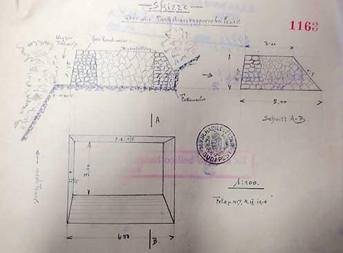 A műszaki akadály rajza