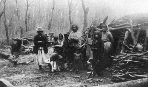 Cigányok a Mecsekben 1915 körül