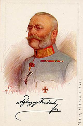 Frigyes főherceg egy 1914-es képeslapon