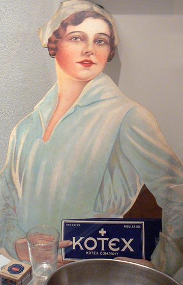 A Kotex a legendás és diszkrét kék színű kórházi dobozban