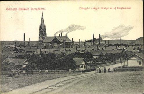 A modernizálódó Diósgyőr látképe a 20. század elején