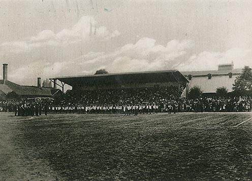 A diósgyőri vasgyári futballstadion az 1920-as évek végén
