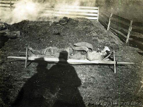 Kolerában meghalt katona az északi fronton