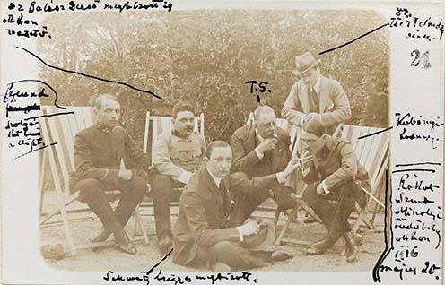 Teleki Sándor a rákosszentmihályi tüdőotthonban, 1916. május 20.