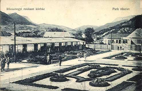 A rózsahegyi rokkant kórház korabeli képeslapon