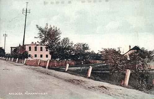 A kalocsai rokkant-telep korabeli képeslapon