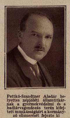 Pettkó-Szandtner Aladár, a m. kir. Népjóléti és Munkaügyi Minisztérium helyettes államtitkára