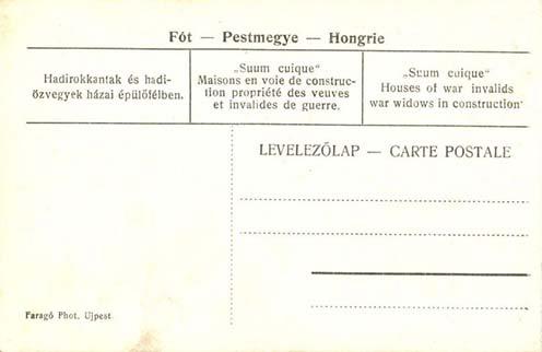 """Az épülő """"Suum cuique"""" telepről kiadott képeslap"""